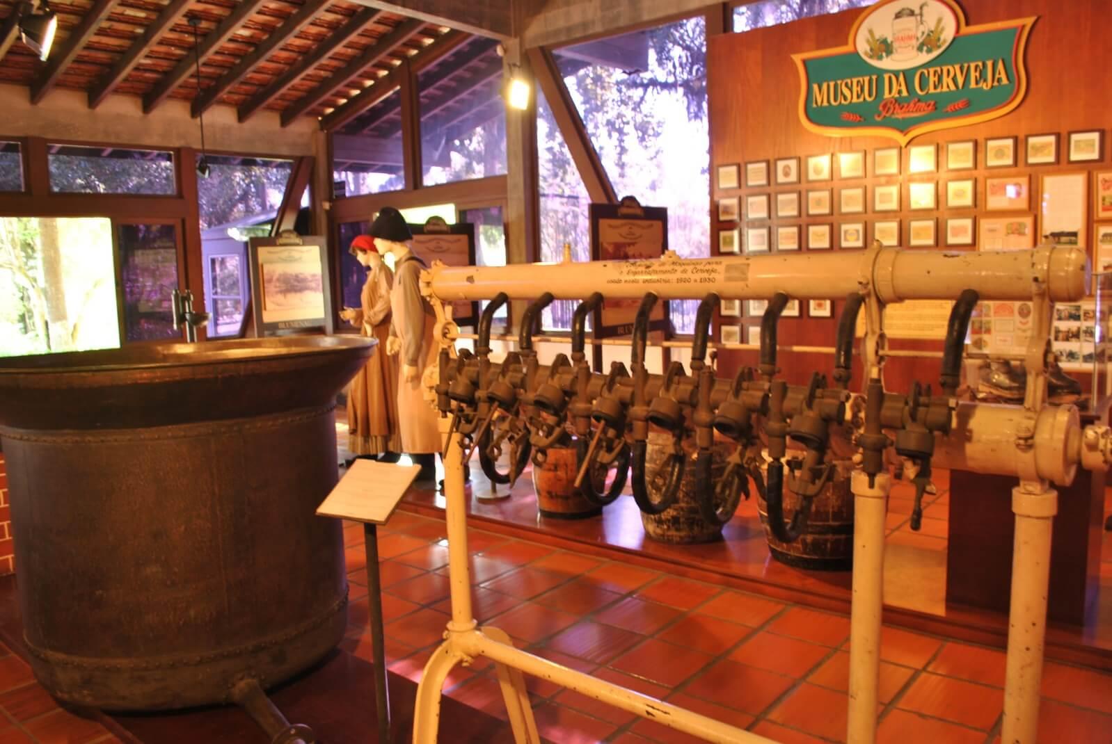Museu da cerveja em Blumenau interno