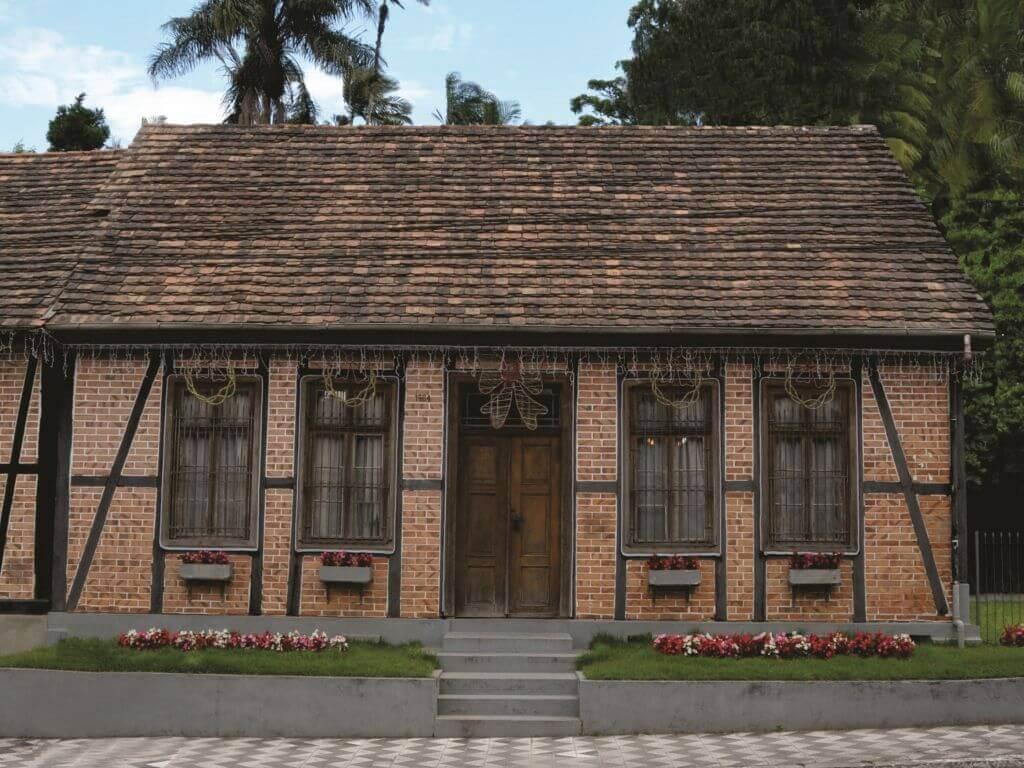 vista externa Museu da família colonial de Blumenau